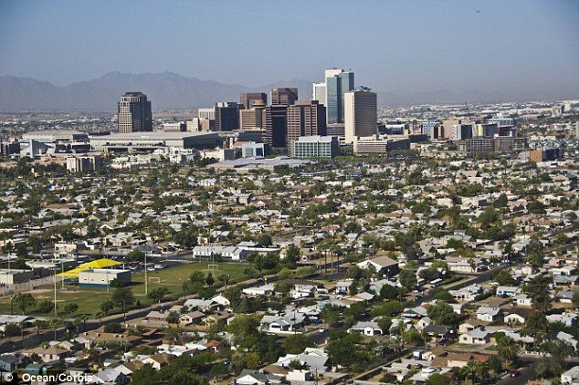 The immigrants were allegedly being taken in a U-Haul trailer from Douglas to Phoenix Arizona (pictured)