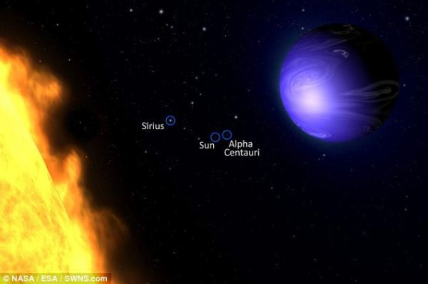 Deep blue planet discovered by Hubble Space Telescope with ...