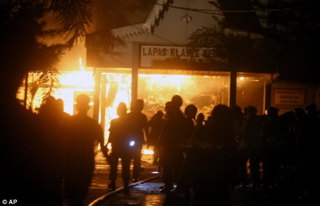 Five people were killed during the riots at the Tanjung Gusta prison in Indonesia