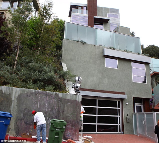 Eyesore: Chris has been living in the $1.5million home since 2011
