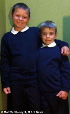 Luke Blagden (left), 10, left and Alfie Blagden, 8, the children of Kora Blagden