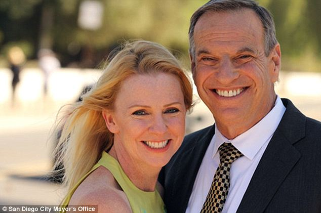 Filner's fiancee Bronwyn Ingram (L) walked out on him just days before he released an apologetic video, and later made her own statement bashing his behavior