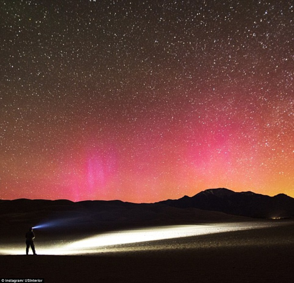Colorado: It's rare to see the Northern Lights so far south, seen here from Great Sand Dunes National Park