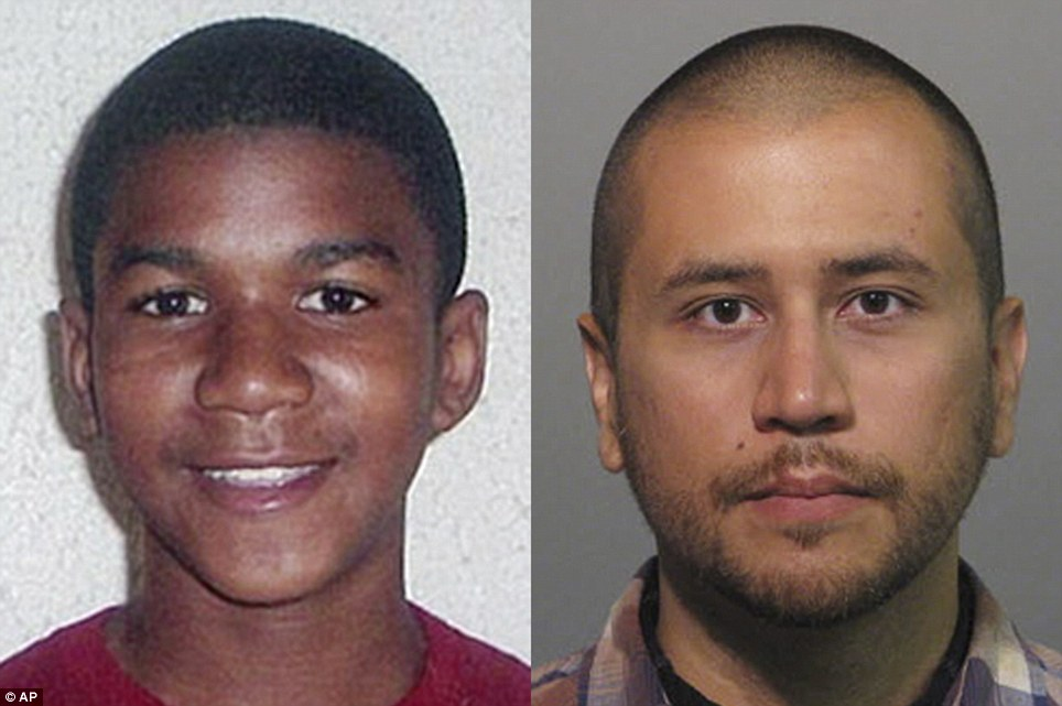 George Zimmerman (right) was acquitted of the charges against him in the murder of teenage Trayvon Martin (left)