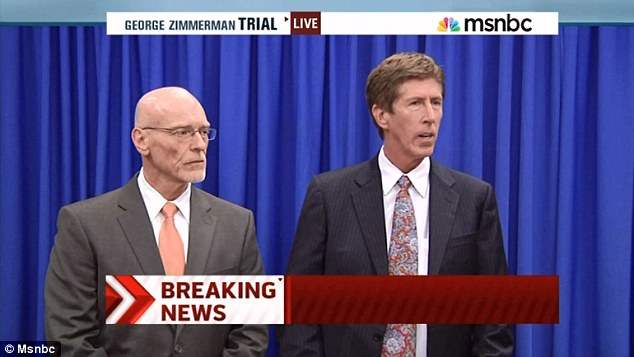 Zimmerman's lawyers Don West, left, and Mark O'Mara, right, said Zimmerman always maintained he acted in self defense