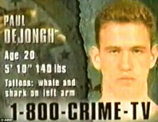 Wanted: Paul Dejongh was on the run in 1996 after shooting dead a teenager at his home