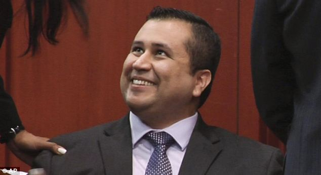 Free man: George Zimmerman went into hiding after he was acquitted of all charges in the killing of 17-year-old Trayvon Martin on Saturday night