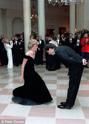 Princess Diana dances with John Travolta at the White House