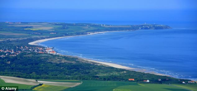 Cap Gris-Nez, pictured, traditionally marks the finish point for swimmers attempting the crossing