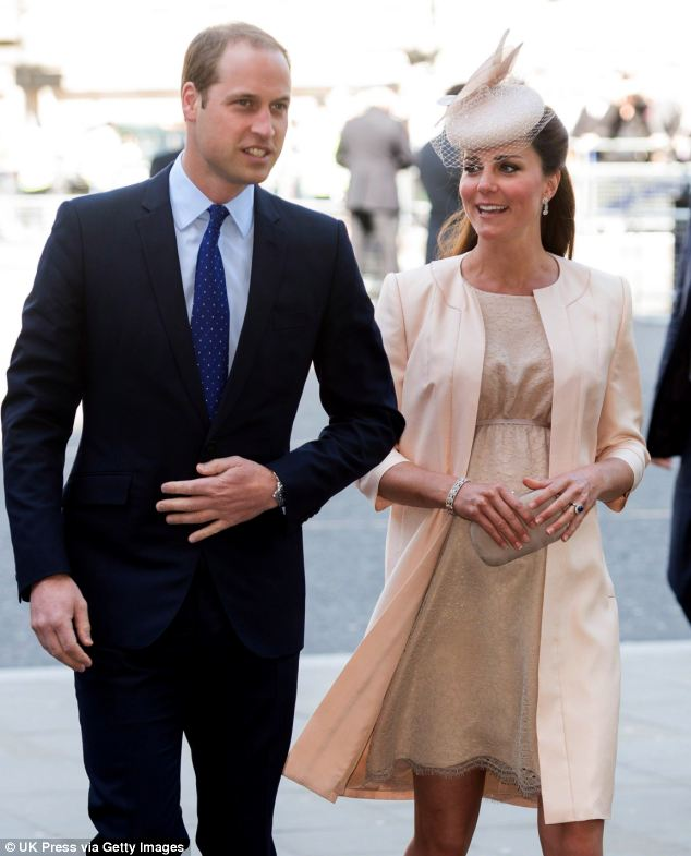 Together: After spending the weekend playing polo, William is now back at his wife's side in Kensington