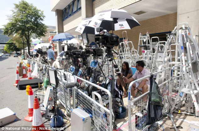 Anticipation: Press have been camped outside St Mary's Hospital in Paddington, London, for days waiting for the arrival of the royal baby
