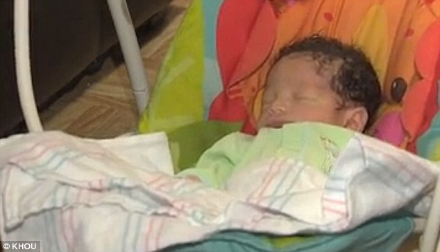 Tiny blessing: Christian was born only 38 minutes after his mother, Destini, found out she was pregnant