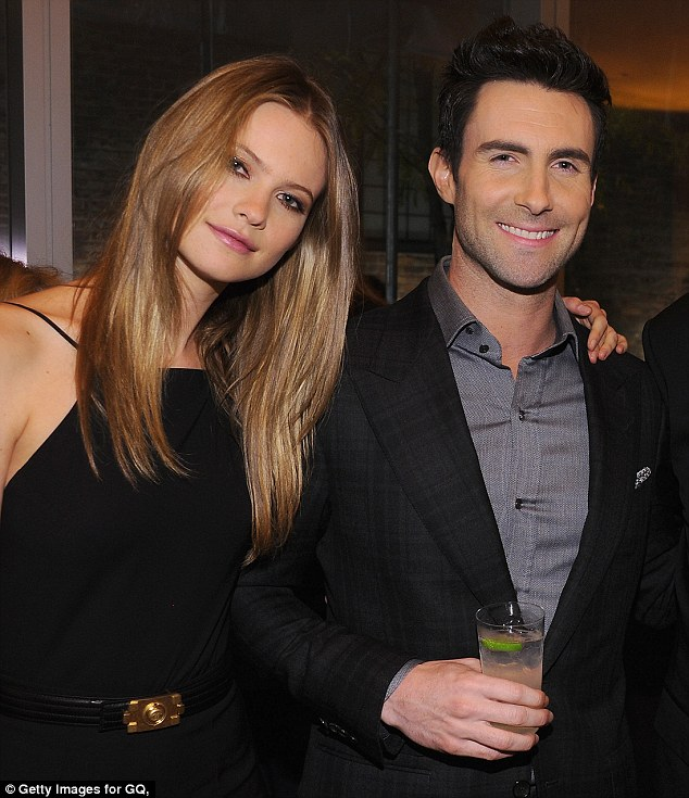 Engaged: Maroon 5 front man Adam Levine is engaged to Victoria's Secret supermodel Behati Prinsloo