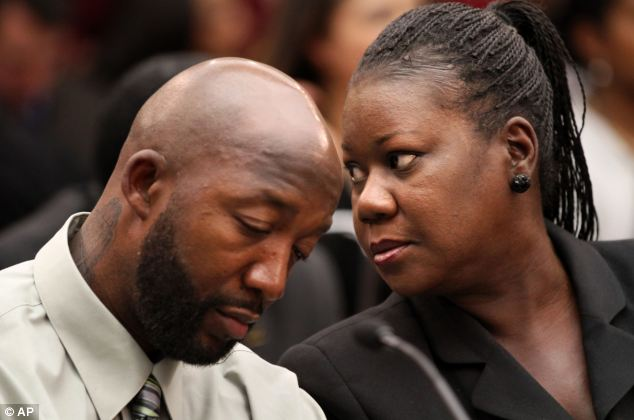 Media blitz: Trayvon Martin's parents, father Tracy Martin, left, and mother Sybrina Fulton, have several TV interviews lined up for Thursday including on NBC's 'Today' and with CNN's Anderson Cooper