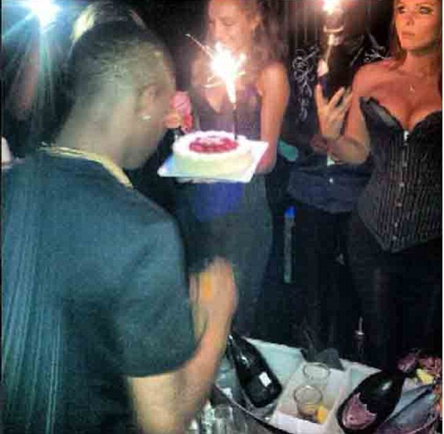Birthday boy: The 19-year-old singer is believed to have splashed out on the lavish drink for his musician pal Wizkid