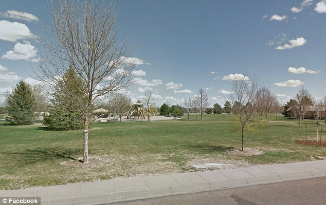 This is the park in Gering, Nebraska, where the couple had sex in public
