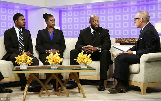 United front: Jaharvis Fulton joined his mother and Trayvon's father when they were interviewed by Matt Lauer earlier on Thursday as the first in their string of post-trial appearances