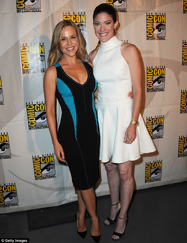 Dexter's ladies: Michael's on screen wife Julie Benz and his off screen former wife were all smiles
