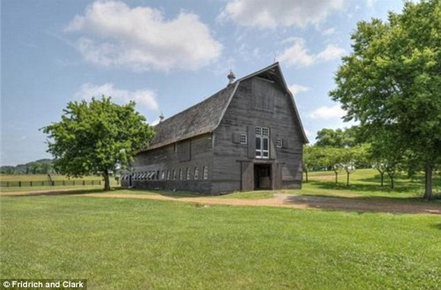 Prime property for horse lovers: the estate features a 12-stall barn where the new owner will be able to comfortably house their horses