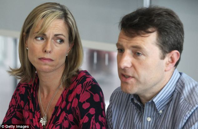 New hope: Madeleine's parents Kate and Gerry McCann welcomed the Met's announcement that it had new leads earlier this month