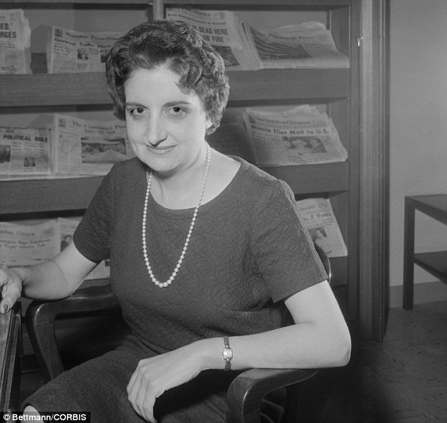 Cub reporter: Thomas got her start in journalism in 1943 as a 'copy girl' for the now-defunct Washington Daily News