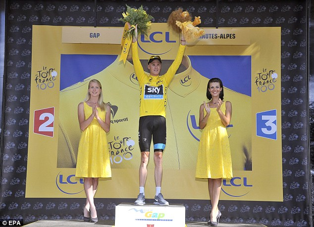 On top: Froome should be atop the podium come the end of Stage 21
