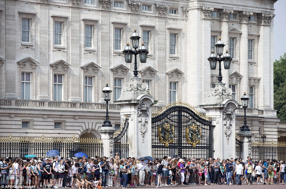 Anticipation: For weeks people have been sleeping outside the Lindo Wing, where the baby is born, and now many will also wait outside the Queen's home