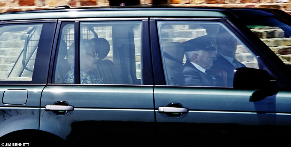 Great-grandmother: The Queen left Windsor Castle this afternoon on her way back to Buckingham Palace