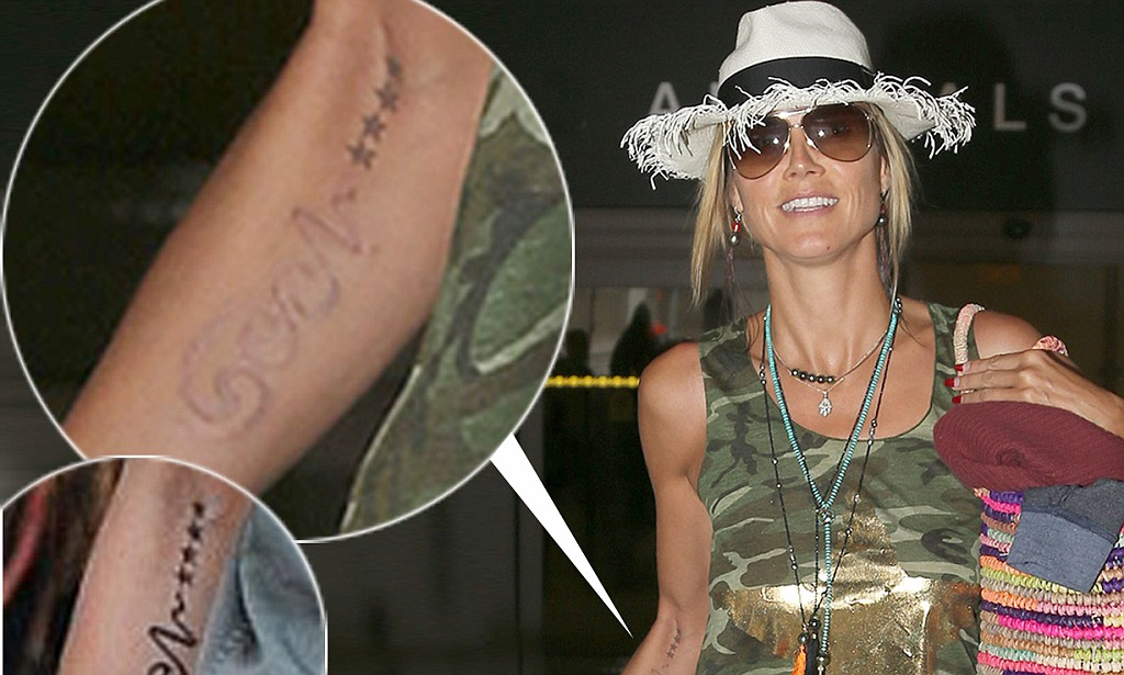 Heidi Klum Shows Off The Results Of Tattoo Removal As Seal