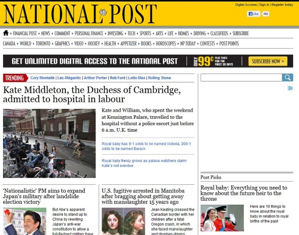 Royal baby makes headlines around the world | Daily Mail ...