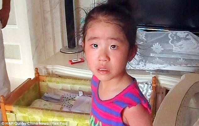 The little girl was heard crying by a neighbour who alerted the emergency services
