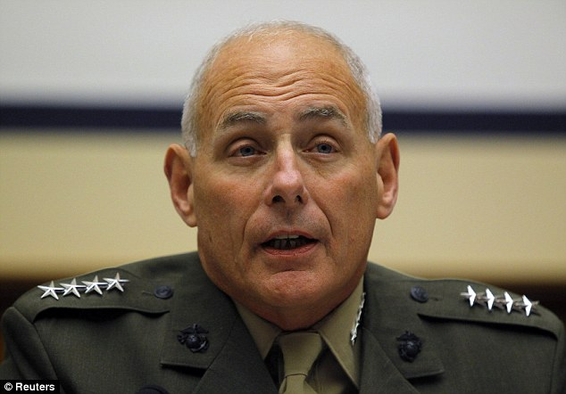 U.S. Marine General John Kelly, 62, will take up residence in October in the posh home - one of hundreds of luxury accommodations owned or leased by the military