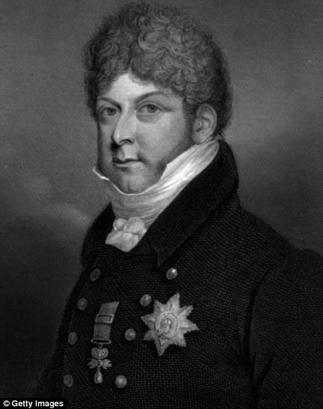 Relations: George IV, pictured, was the eldest son of George III