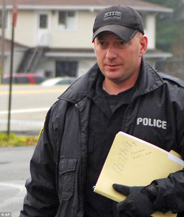Chief Mark Kessler - pictured in 2010 - shot himself in the hand a year later after he tried to split up a bar fight
