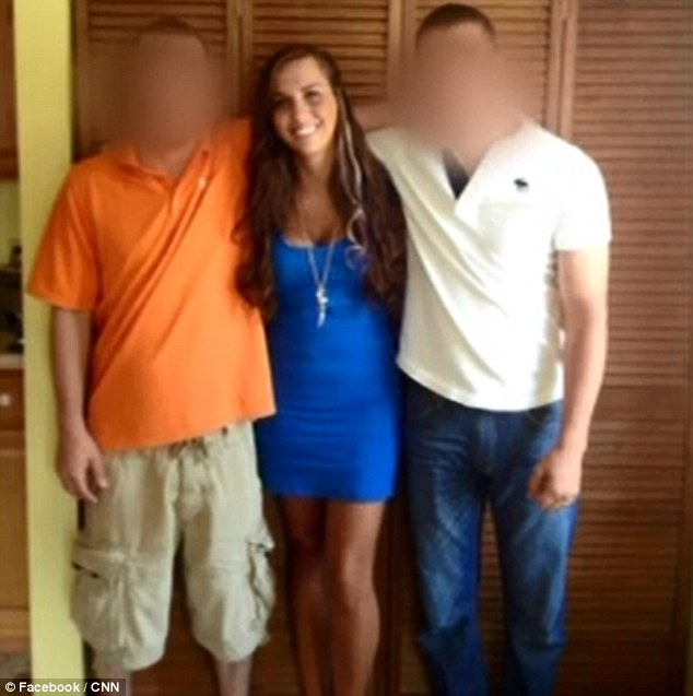 Money hungry: Sydney Leathers, pictured center with two unknown friends, is said to have gained an agent who has told her she could make $100,000