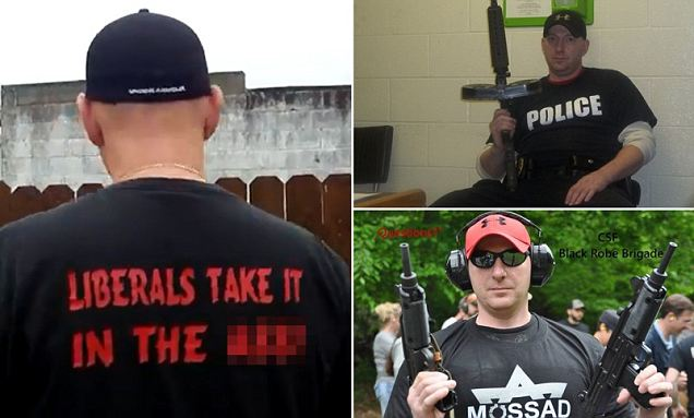 The man dubbed 'America's scariest police chief' will not lose his job after posting 'disturbing' videos himself firing assault rifles and threatening liberals because the town's mayor thinks he is exercising his freedom of speech.