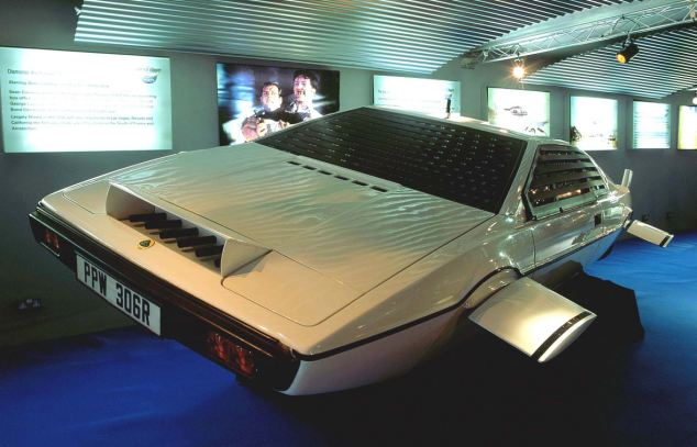 Movie star: The car was one of several Lotus Esprit's modified for use in The Spy Who Loved Me