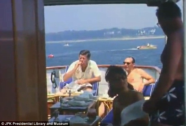 New Footage Shows JFK And Kennedy Family Boating Swimming