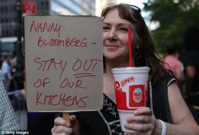 Overreach: Following a 'Million Big Gulp March in lower Manhattan, an appeals court has ruled against Mayor Michael Bloomberg's proposal to prohibit the sale of soft drinks in cups that hold more than 16 ounces