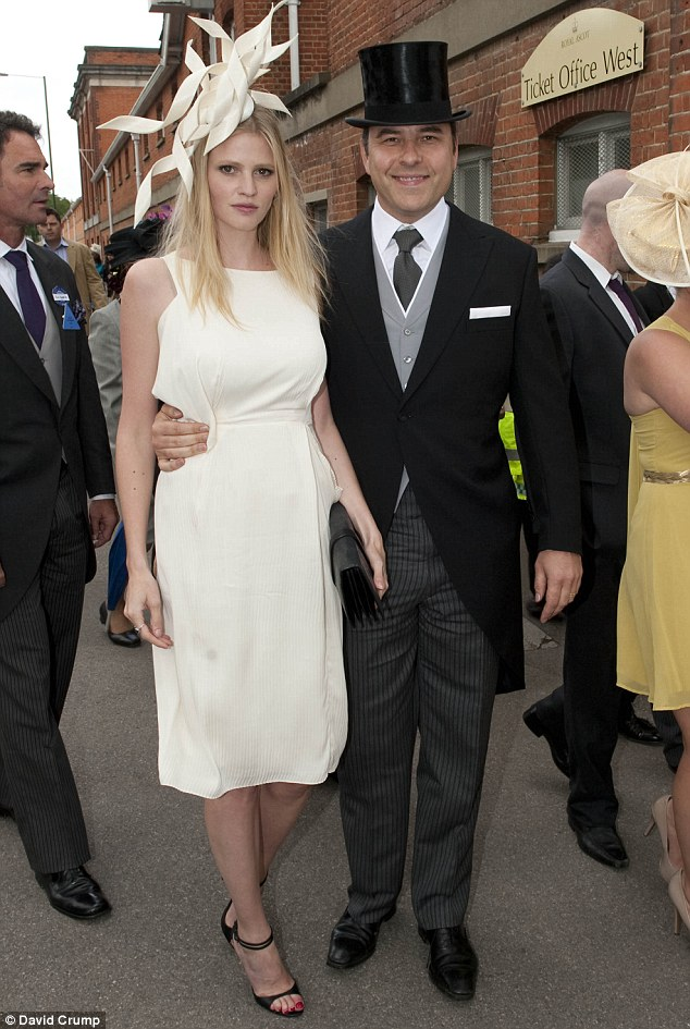 Lighthearted: David Walliams with his wife Lara Stone