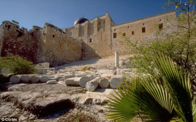 The inscription was found in Ophel, near near Temple Mount in Jerusalem (pictured) in December last year