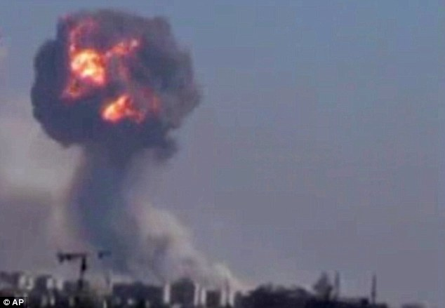 Casualties: The series of powerful explosions reportedly killed at least 40 soldiers and civilians and wounded dozens of others