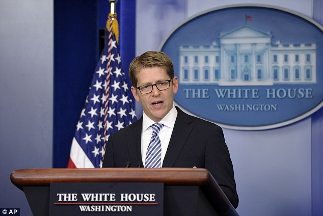 No Regrets: White House spokesman Jay Carney says the president stands by his statement that any scandal about the attack is 'phony'