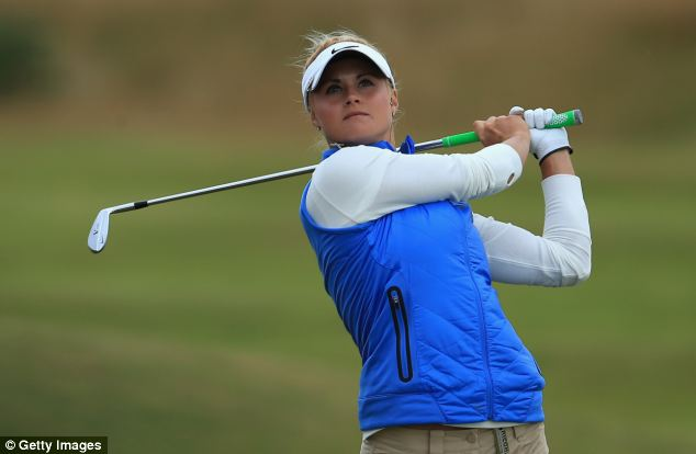 Miss Booth in action at the Ricoh Women's British Open at St Andrews