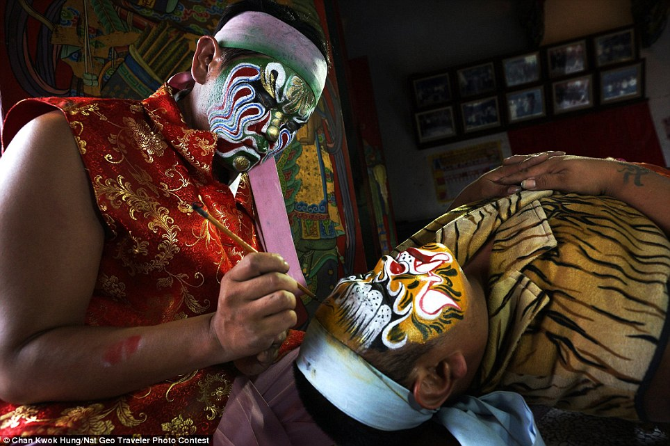 True colors: Guanjiang Shou troupes are one of Taiwan most popular activities that may be seen all over the country at traditional folk religion gatherings. With their fiercely painted faces, fangs and choreographed performances, they are easily recognized