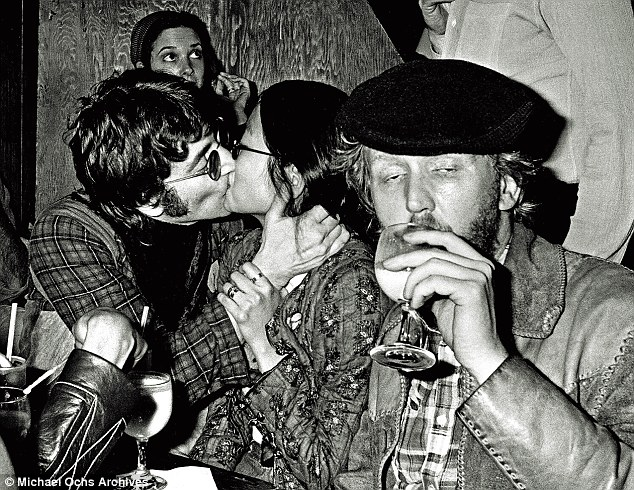 One long party: During the infamous 'lost weekend' Harry Nilsson with John Lennon and May Pang. Nilsson always slightly hero-worshipped Lennon, and there was a shared love of the outrageous