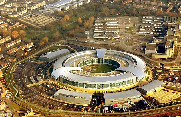 Claim: The US government gave Britain's spying centre at GCHQ (pictured) £100million over three years and apparently expected to influence its work, it was alleged