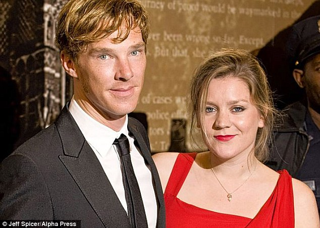 Benedict Cumberbatch and former girlfriend Olivia Poulet at The Specsavers Crime Thriller Awards 2010