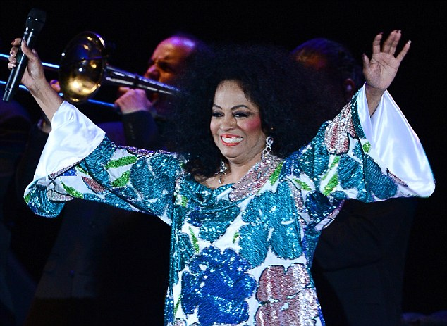 Welcoming her fans: Diana said a huge hello to the audience that filled the Hollywood Bowl