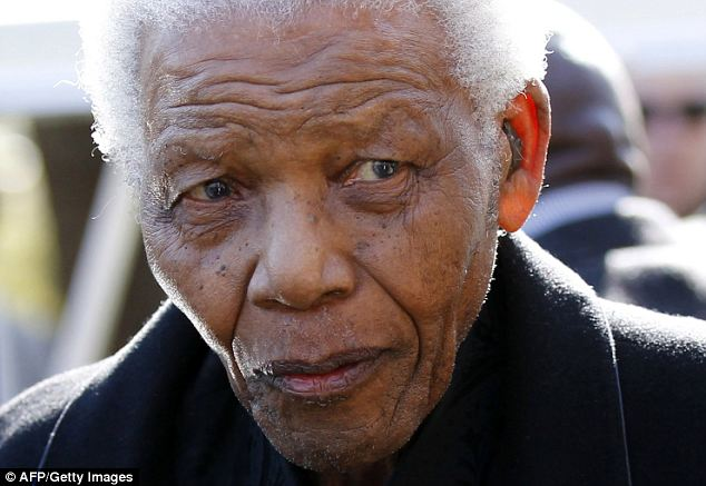 Nelson Mandela pictured in 2010: The city of Johannesburg has apologised to the anti-apartheid freedom fighter after he was erroneously sent a notice that his water and electricity supply would be cut off over an unpaid bill